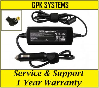 Gateway NV53A NV54 NV55C NV56 NV58 Laptop Car Charger Power Cord DC