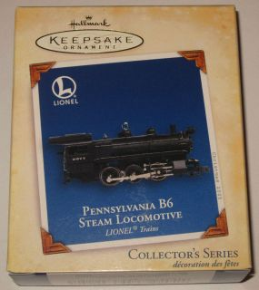 NEW Lionel Pennsylvania B6 Steam Locomotive Train Engine Hallmark 2005