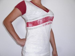 GIII 4HER Medium Arizona Cardinals Womens Zone Coverage V Neck T Shirt
