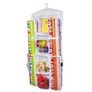 Closet Hanging Gift Wrap Wrapping Paper Organizer Bag