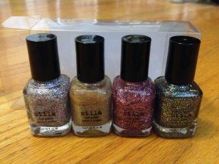 Urban Outfitters Stila Nail Polish mini Gift set Glitter Metallic NEW