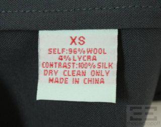 Geren Ford Grey Silk & Dark Grey Wool Sleeveless Pleated A Line Dress