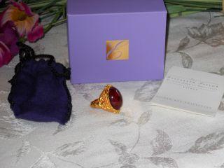 Elizabeth Taylor Gilded Age Cherub Angel Ring Sz 6