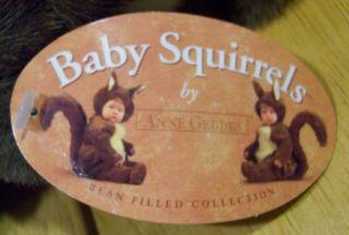 Anne Geddes Baby Doll in Squirrel Costume 7 Plush Stuffed Animal Toy