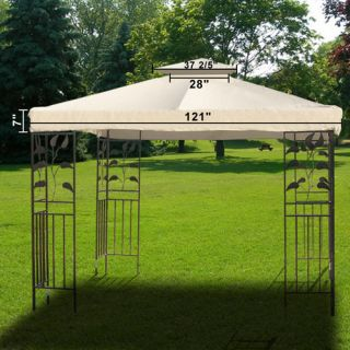 10 x 10Gazebo Patio Top Cover Resistant Waterproof Outdoor Canopy