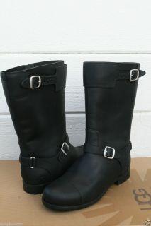 UGG Gershwin Womens Black Motorcycle Boots US 7