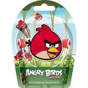Gear4 HAB001G Angry Birds in Ear Stereo Headphones Red Bird Tweeters