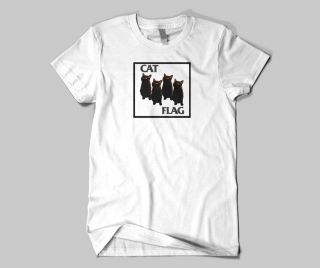 Youre viewing a CAT FLAG Black Flag Greg Ginn Parody T Shirt
