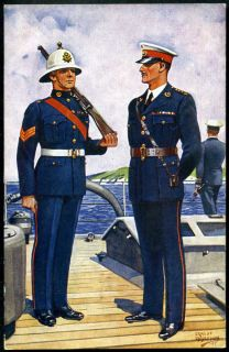 THE ROYAL MARINES. Gale & Polden WW2 uniforms #25. ERNEST IBBETSON art