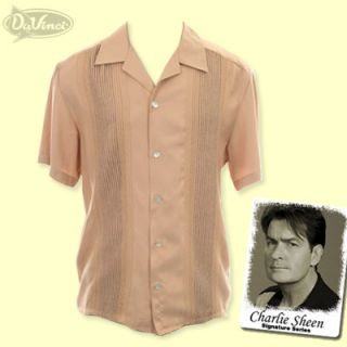 DaVinci Charlie Sheen Collection Gambino Camp Shirt XL $89 Club Nat