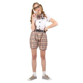 Ladies L High School Nerd Costume for School Girl Fancy Dress