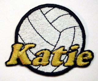 Custom Iron on Volleyball Patch Personalized