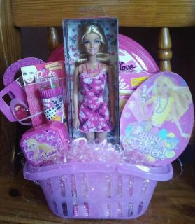 Barbie Doll Easter Gift Basket Birthday Any Occas
