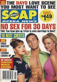 Tricia Cast Scott Reeves Sabryn Genet 1997 Soap Opera News