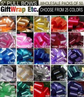10 Pull Bows per Color 5 Basket Party Balloon Gift Decorations