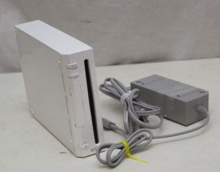 Nintendo Wii console   console and power adapter   model # RVL 001