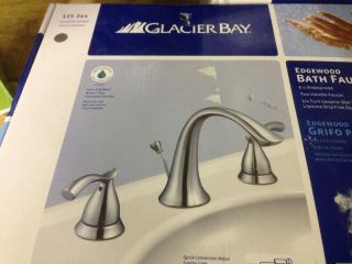 Glacier Bay Edgewood Bath Bathroom Faucet Brushed Nickel 125 344 8