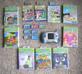 of 17 LeapFrog Lmax Leapster Learning Game System Disney Nick Jr EUC