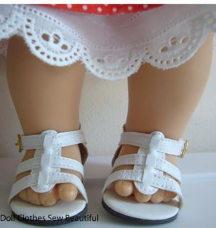 Doll Clothes Fits Bitty Baby White Gladiator Sandals