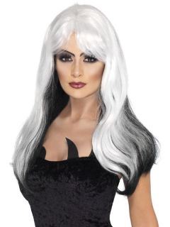 Glamour Witch Adult Costume Accessory Wig Black White New