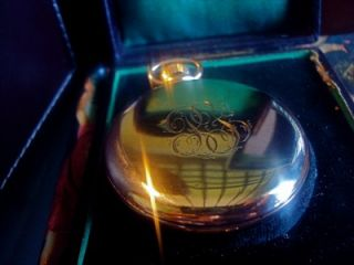 ANTIQUE 10K GOLD POCKET WATCH LAFORGE & VALENTINE ELECTA BY GALLET&CO