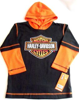 Harley Davidson Boys Hoodie T Shirt Apparel Tops Shirts Size 4 5 6 7