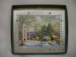 Sample Winter Scene Advertising Thermometer in Box Gilbertville