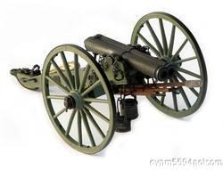 ATHENS DOUBLE BARREL CIVIL WAR CANNON, 116 SCALE GUNS OF HISTORY, MIB