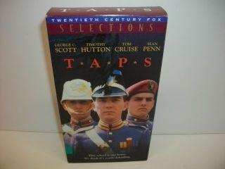 Taps T A P s 1981 Tom Cruise George C Scott VHS Miltary Movie RARE