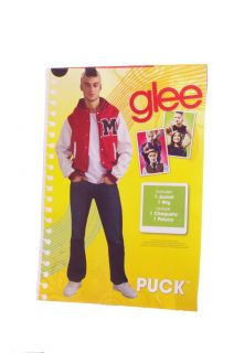 Men Glee Puck Varsity Jacket Halloween Costume Large XL Faux Hawk