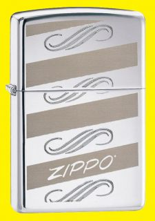 Zippo Lighter Windswept High Polish Chrome