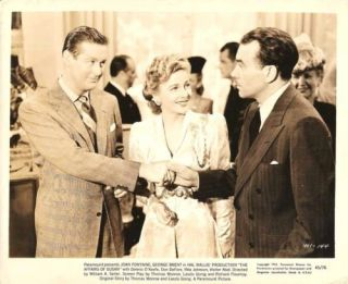 Joan Fontaine George Brent The Affairs of Susan1945
