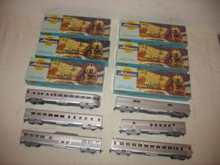 HO Scale Lot of 6 Athearn Santa FE Streamline Passenger Cars in Boxes