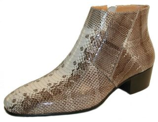 GIORGIO BRUTINI 15549 Mens Dress Shoes Genuine Snake Skin Boots Size 9