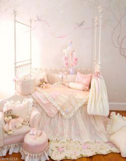 Glenna Jean Pink Ivory Ava Baby Nursery Crib Bedding