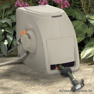 with half the effort this decorative swivel hose reel is a great