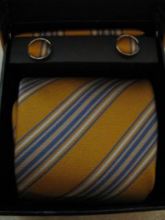 NIP George Martin Collection Tie Cuff Link Set 3 Colors