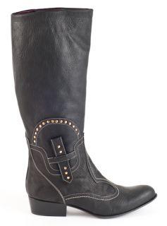 New El Vaquero Black Leather Boots Size 36 US 6