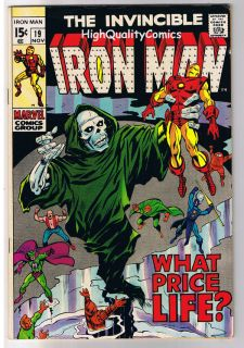name of comic s title iron man 19 publisher marvel comics art by