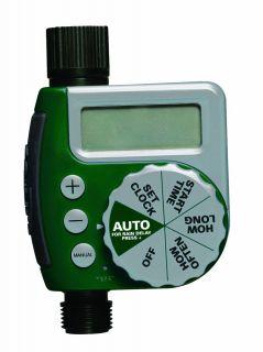 Single Dial Water Timer Sprinkler Garden Hose Rain Sensor Lawn NEW