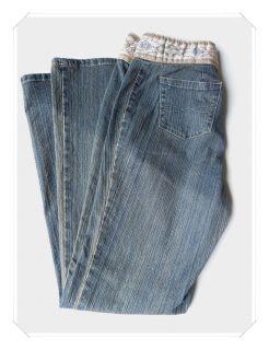 Faded Glory Stretch Denim Blue Jeans Sz Misses 4 Boot Cut Low Rise