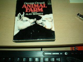 1981 George Orwell Animal Farm Read By Alan Bennett 2 Cassettes Audio