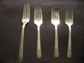 Silver Plate Forks Oneida Simeon L George Rogers