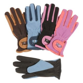 JT INTERNATIONAL GREAT GRIPS KIDS LADY GLOVES PINK BLACK FAUX LEATHER