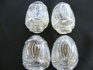 Vintage Set 4 Glass Bird Cage Feeders or Bird Water Bowls Retro Mid