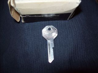 NOS GM Ignition Door Key Blank 67 1967 Chevy Camaro Chevelle GTO 442