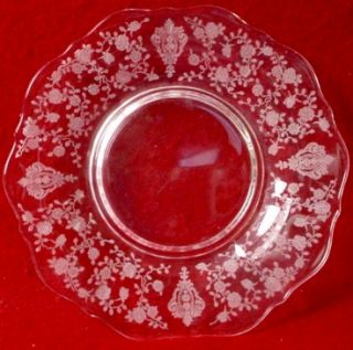 Cambridge Crystal Rose Point Mayonnaise Underplate 129