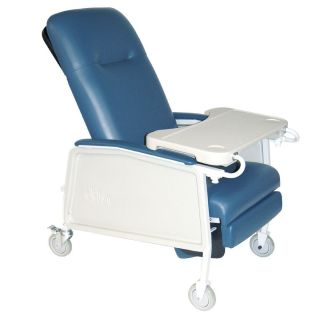 Drive Medical 3 Position Geri Chair Recliner Lift Chair 500LB Cap Blue