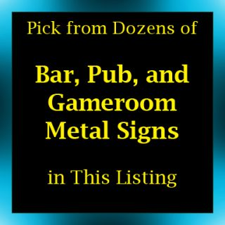 Bar Pub Game Room Metal Signs Home Accents Decor