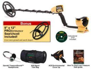 GARRETT ACE 250 SPORTS PACK Metal Detector 5 BONUS ITEMS 2012 SHIPS